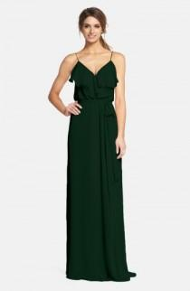 wedding photo - nouvelle AMSALE 'Drew' Ruffle Front Chiffon Gown