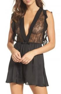 wedding photo - Black Bow Louisa Lace Romper