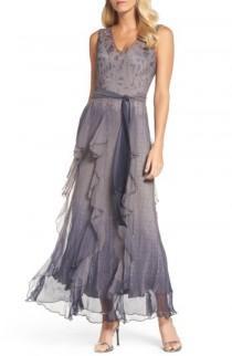 wedding photo - Komarov Print Sash Maxi Dress