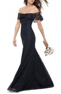 wedding photo - WTOO Amour Lace Off the Shoulder Gown