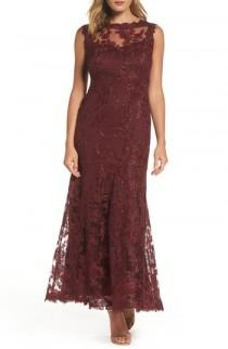 wedding photo - Tadashi Shoji Embroidered Tulle Gown (Regular & Petite)
