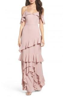 wedding photo - WAYF Danielle Off the Shoulder Tiered Crepe Dress