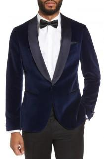 wedding photo - BOSS Nemir Classic Fit Velvet Dinner Jacket