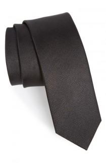 wedding photo - The Tie Bar Solid Silk Tie