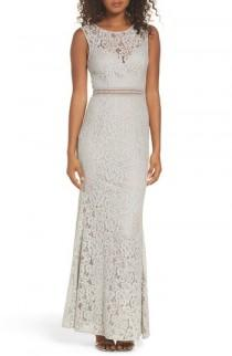 wedding photo - Lulus Music of the Heart Lace Maxi Dress