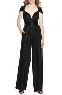 wedding photo - Dessy Collection Twist Convertible Wide Leg Jumpsuit