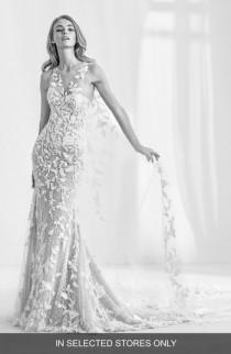 wedding photo - Atelier Pronovias Ramses Illusion Lace Mermaid Gown with Cape