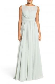 wedding photo - Jenny Yoo 'Vivienne' Pleated Chiffon Gown