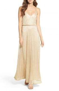 wedding photo - Lulus Blouson Shimmer Gown