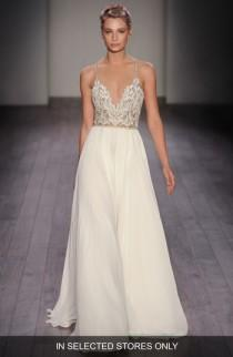 wedding photo - Hayley Paige Teresa T-Strap Back Embellished Chiffon A-Line Gown