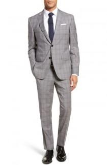 wedding photo - Ted Baker London Jay Trim Fit Plaid Wool Suit