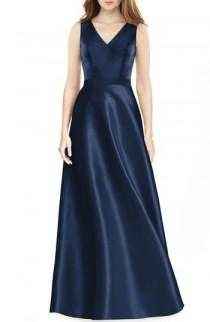 wedding photo - Alfred Sung Sleeveless Sateen Gown