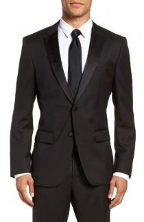 wedding photo - BOSS Hence CYL Trim Fit Wool Dinner Jacket