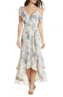 wedding photo - WAYF Elanor Ruffle Faux Wrap Maxi Dress