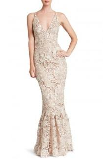 wedding photo - Dress the Population Sophia Crochet Lace Mermaid Gown