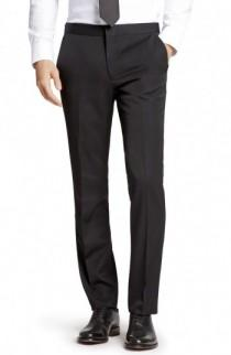 wedding photo - Bonobos Flat Front Wool Tuxedo Trousers