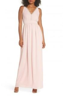 wedding photo - TFNC Sallie Open Back Chiffon Gown