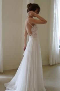 wedding photo - White Backless Wedding Dress ♥ Simple & Chic Backless Wedding Dress