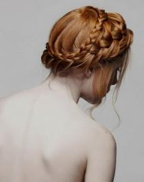 wedding photo -  Natural Wedding HairStyles | Sade ve Dogal Gelin Saci