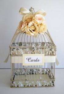 wedding photo - Vintage Wedding Birdcage Guestbook
