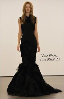 wedding photo - Vera Wang Black Wedding Dress ♥ Extraordinary Wedding Dresses