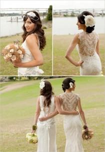 wedding photo - Designer Wedding Dresses ♥ Lace Beach Wedding Dresses
