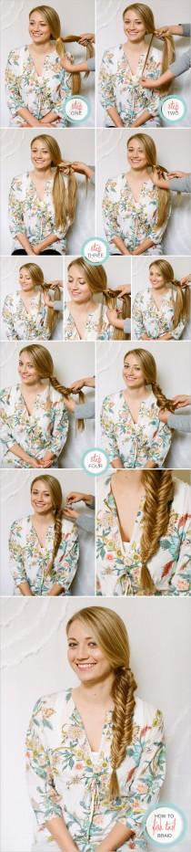 wedding photo - Fish Tail Braid