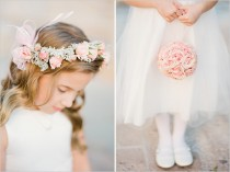 wedding photo - Flower Ball and Head Wreath For Flower Girl