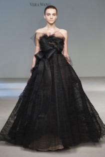 wedding photo -  Vera Wang Modern Black Wedding Dresses ♥ Extraordinary Wedding Dresses