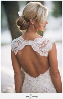 wedding photo - Monique lhuillier Scarlet French Lace Open Back Wedding Dress