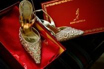 wedding photo - مدبب سبركلي أحذية الزفاف العرسان ♥ Caovilla رينيه أحذية كوكتيل