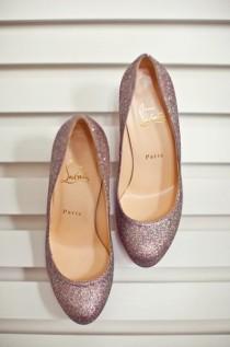 wedding photo - Sparkly chaussures de mariage chaussures de mariée Glitter ♥