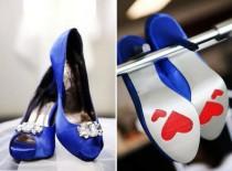 wedding photo - Chaussures de mariage bleu