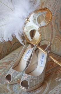 wedding photo -  Sparkly Wedding Pumps