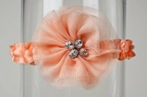 wedding photo -  Peach Wedding Garter