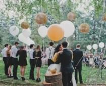 wedding photo -  Inspired By This Gold Metallic Confetti Filled Wedding!