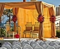 wedding photo -  Indian Wedding Ideas : A Gold Mandap
