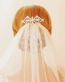 wedding photo - Cute Wedding Hairstyle  ♥ Vintage Wedding Hair