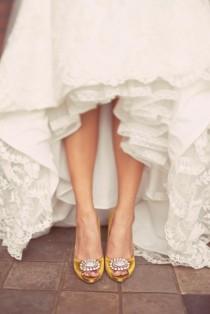 wedding photo - Chic et confortable talons chaussures de mariage