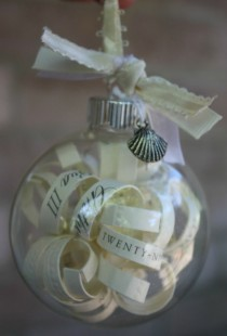 wedding photo -  Christmas Wedding Invitation ♥ Unique Glass Ornament Wedding Invitation