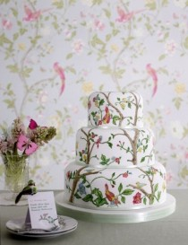 wedding photo - Vintage Fondant Wedding Cakes ♥ Wedding Cake Decorations
