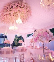 wedding photo - Pale Pink Wedding Tables