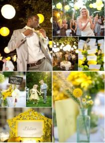 wedding photo -  Sunflower Yellow Wedding Color Palettes