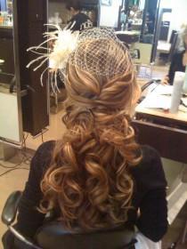 wedding photo - Coiffure de mariage mignon ♥ cheveux ondulés de mariage