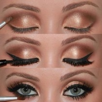 wedding photo - Maquillage Best Wedding ♥ Maquillage des yeux d'or de mariage