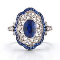 wedding photo -  Luxury Sapphire Diamond Ring | Ozel Tasarim Pirlanta ve Safir TasliYuzuk