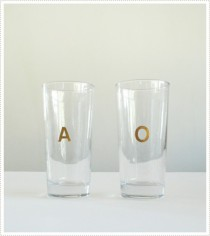 wedding photo - DIY Your Monogram Glass