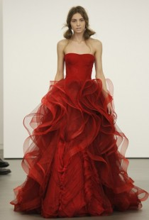 wedding photo - Sexy Red vestido de dama ♥ Diseño especial por Vera Wang