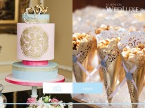 wedding photo - Fondant Wedding Cakes ♥ DIY Gold Doily Cones