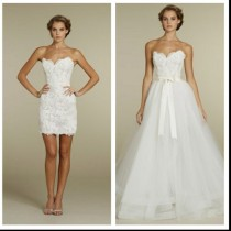 wedding photo - 2 in 1 Wedding Dresses ♥ Chic Special Design Wedding Dress